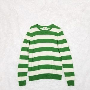 Joie Green & White Striped Sweater - Small